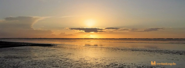 Nessmersiel - Sonnenuntergang am Strand